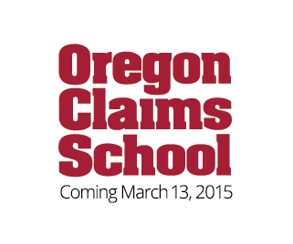 Oregon Claims School logo--homepage badge
